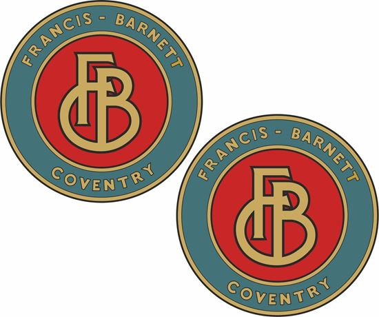 Picture of Francis Barnett Motorcycle Decals / Stickers
