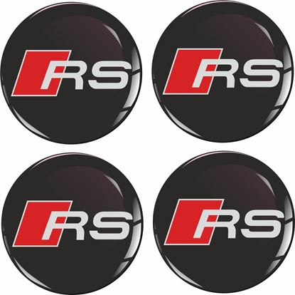 Picture of Audi RS Wheel centre Gel Badges