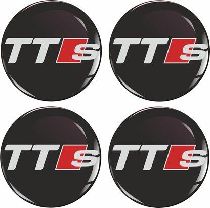 Picture of Audi TTS Wheel centre Gel Badges