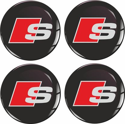 Picture of Audi S Wheel centre Gel Badges