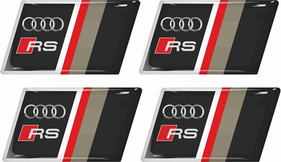 Picture of Audi RS Gel Badges