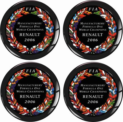 Picture of Renault FIA F1 Champions Wheel centre Gel Badges