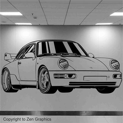 Picture of Porsche 964 RS Wall Art sticker
