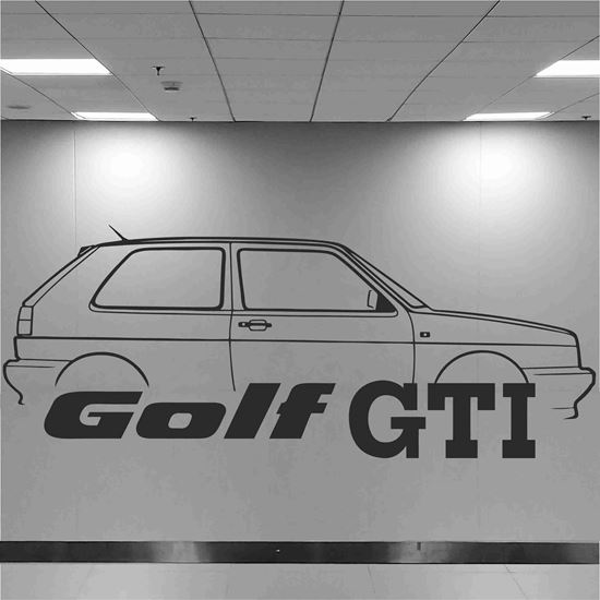 Picture of Volkswagen Golf MK2 GTI Wall Art sticker