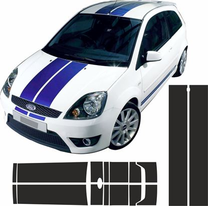 Picture of Ford Fiesta MK6 ST / ZS  OTT Stripes  / Stickers PANEL FIT