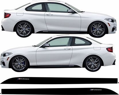 Picture of BMW 2 Series F22 M  Performance side Sill Stripes / Stickers