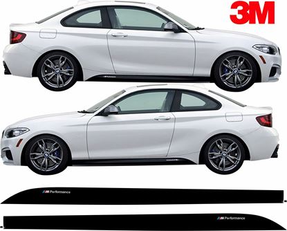 Picture of BMW 2 Series F22 side Sill Stripes / Stickers 3M SCOTCHCAL