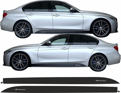 Picture of BMW 3 Series F30 / F31 M  Performance side Sill Stripes / Stickers