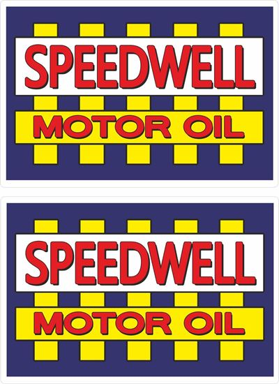 Picture of Speedwell Motor Oil general panel Decals / Stickers