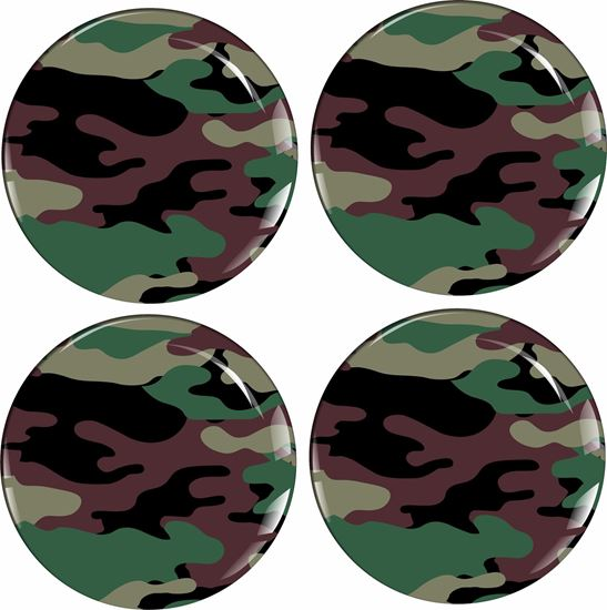 Picture of Camo Wheel centre Gel Badges