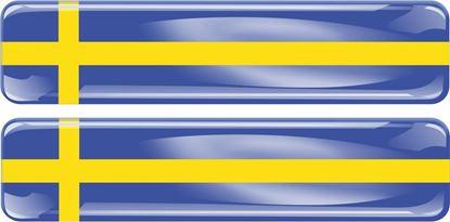 Picture of Sweden 70mm Exterior Gel Badges