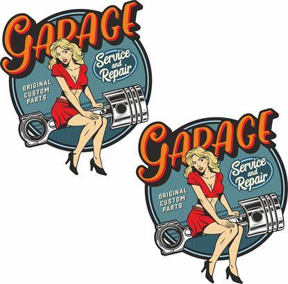 "Picture of Vintage ""Garage Service & Repair""  general panel  Decals / Stickers"