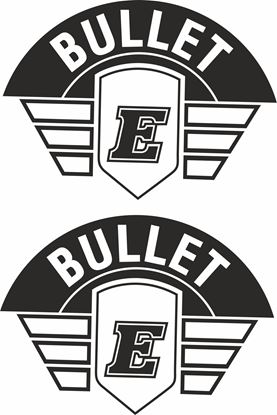 Picture of Royal Enfield Bullet panel or Tank Decals / Stickers