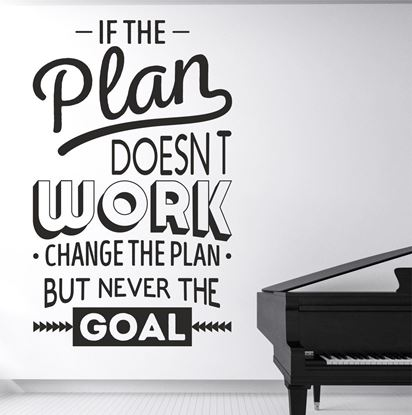 """Picture of """"If the Plan Doesn't...""""  Wall Art sticker"""