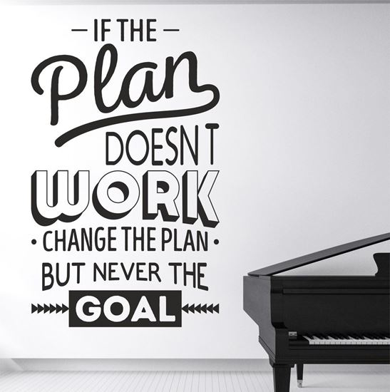 "Picture of ""If the Plan Doesn't...""  Wall Art sticker"