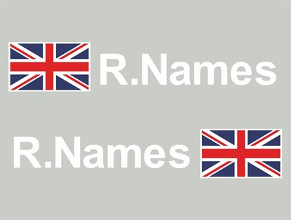 Picture of UK Glass / Panel Driver Name Decals / Stickers