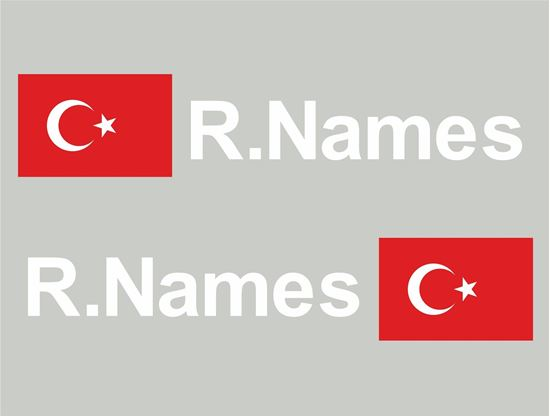 Picture of Turkey Glass / Panel Driver Name Decals / Stickers