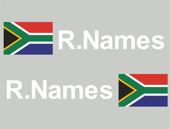 Picture of South Africa Glass / Panel Driver Name Decals / Stickers