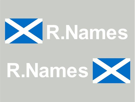 Picture of Scotland Glass / Panel Driver Name Decals / Stickers