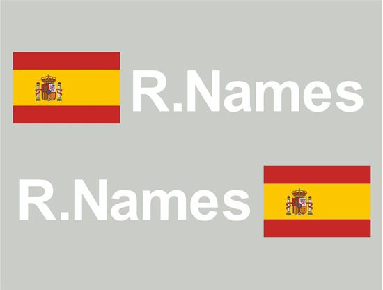 Picture of Spain Glass / Panel Driver Name Decals / Stickers