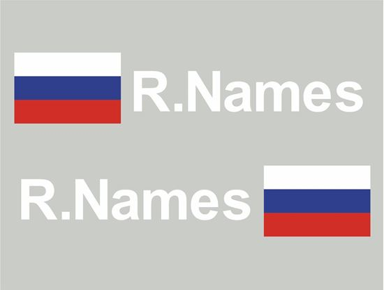 Picture of Russia Glass / Panel Driver Name Decals / Stickers