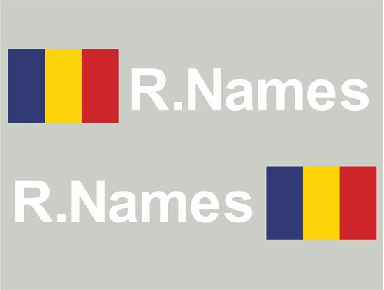 Picture of Romania Glass / Panel Driver Name Decals / Stickers
