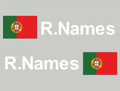 Picture of Portugal Glass / Panel Driver Name Decals / Stickers