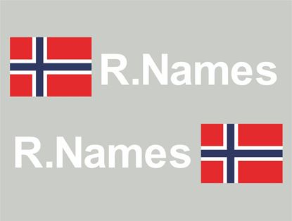 Picture of Norway Glass / Panel Driver Name Decals / Stickers