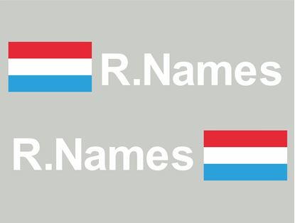 Picture of Luxembourg Glass / Panel Driver Name Decals / Stickers