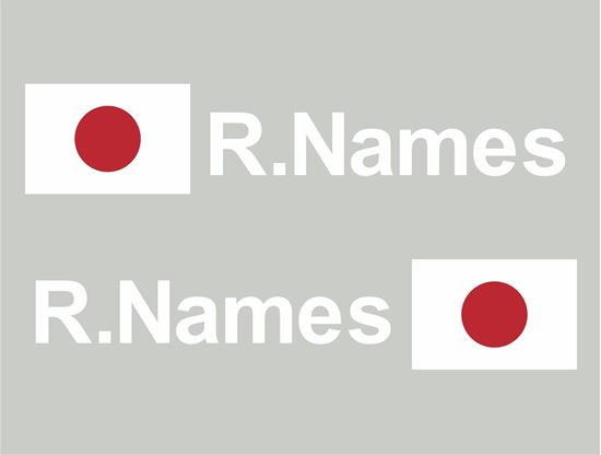 Picture of Japan Glass / Panel Driver Name Decals / Stickers