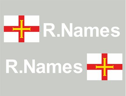 Picture of Guernsey Glass / Panel Driver Name Decals / Stickers