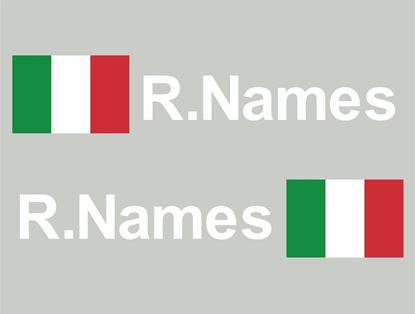 Picture of Italy Glass / Panel Driver Name Decals / Stickers