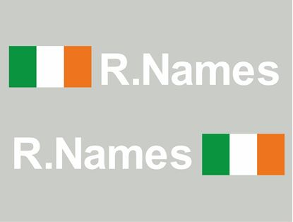 Picture of Ireland Glass / Panel Driver Name Decals / Stickers