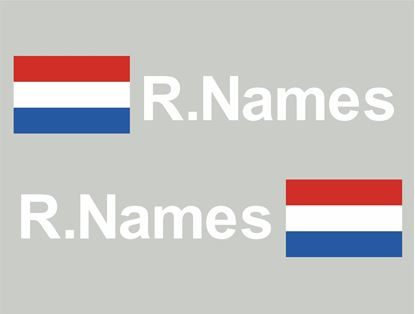 Picture of Netherlands Glass / Panel Driver Name Decals / Stickers