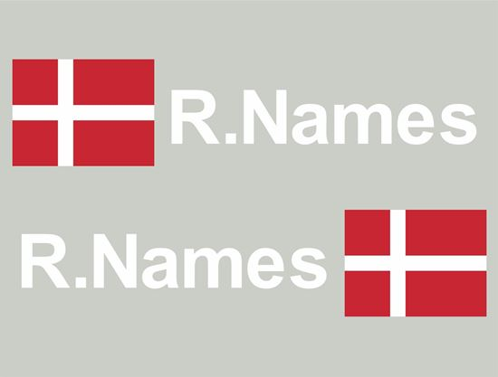 Picture of Denmark Glass / Panel Driver Name Decals / Stickers
