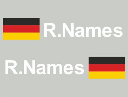 Picture of Germany Glass / Panel Driver Name Decals / Stickers