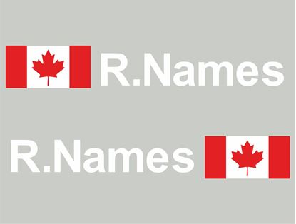 Picture of Canada Glass / Panel Driver Name Decals / Stickers