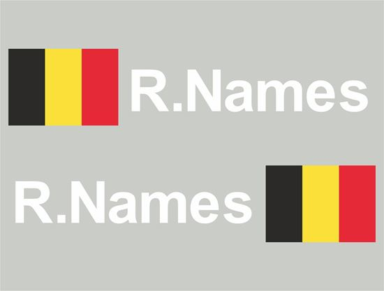 Picture of Belgium Glass / Panel Driver Name Decals / Stickers