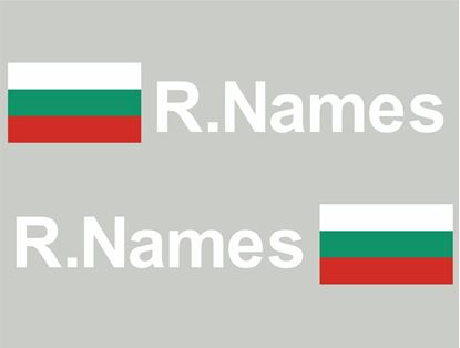 Picture of Bulgaria Glass / Panel Driver Name Decals / Stickers