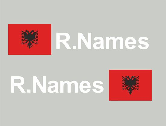 Picture of Albania Glass / Panel Driver Name Decals / Stickers