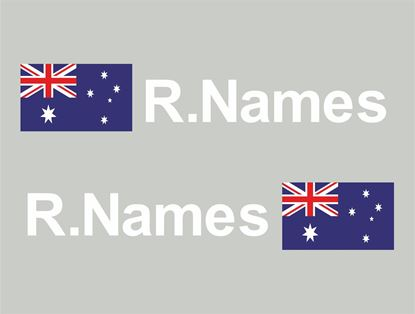 Picture of Australia Glass / Panel Driver Name Decals / Stickers