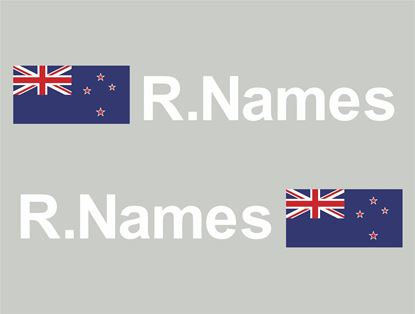 Picture of New Zealand Glass / Panel Driver Name Decals / Stickers
