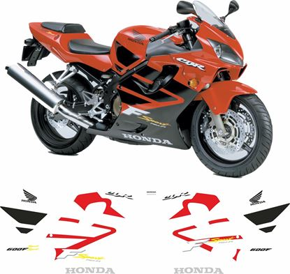 Picture of Honda CBR 600F Sport 2001 / 2002  replacement Decals / Stickers
