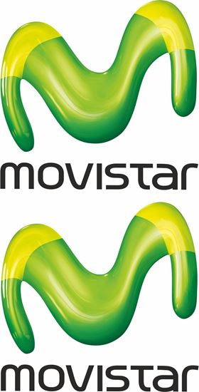 """Picture of """"movistar""""  Track and street race sponsor Decals / Stickers"""