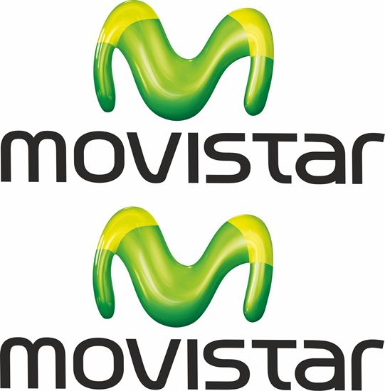"Picture of ""movistar""  Track and street race sponsor Decals / Stickers"