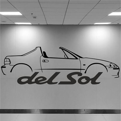 Picture of Honda Civic Del Sol Wall Art sticker