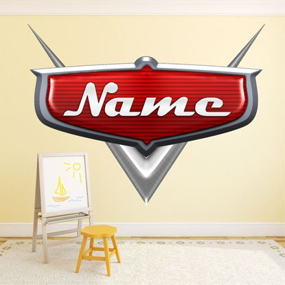 Picture of Cars Personal Name  Wall Art sticker