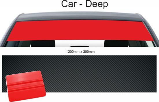 Picture of Car Deep Sunstrip  Vinyl Sticker CARBON FIBRE 1200mm x 300mm