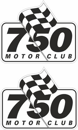 Picture of 750 Motor Club Decals / Stickers