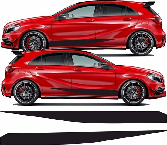 Picture of Mercedes  A Class / A45 side Stripes / Stickers